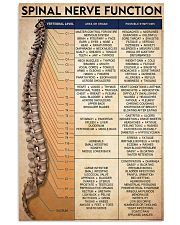 spinal nerve function 24x36 Poster front