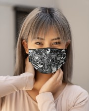 dentist doodle mas Cloth Face Mask - 3 Pack aos-face-mask-lifestyle-18