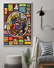 Nurse Stain Glass 11x17 Poster lifestyle-poster-1