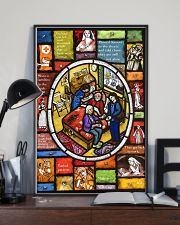 Nurse Stain Glass 11x17 Poster lifestyle-poster-2