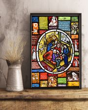 Nurse Stain Glass 11x17 Poster lifestyle-poster-3