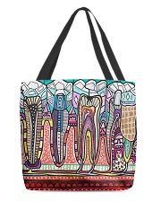 Abstract teeth tote 1 All-over Tote back