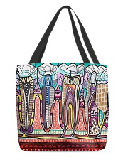 Abstract teeth tote 1 All-over Tote front