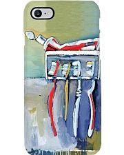 dental brush painting  Phone Case i-phone-8-case