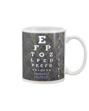 eye chart close pattern 3l Mug tile