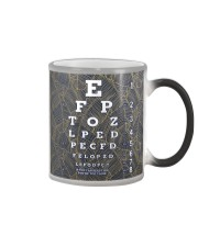 eye chart close pattern 3l Color Changing Mug tile