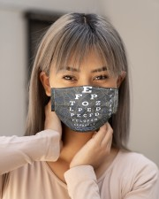 eye chart close pattern 3l Cloth Face Mask - 3 Pack aos-face-mask-lifestyle-18