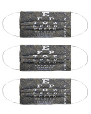 eye chart close pattern 3l Cloth Face Mask - 3 Pack front