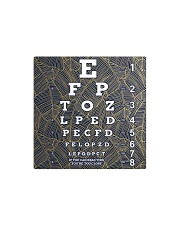 eye chart close pattern 3l Square Magnet tile