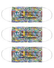 plate mask dental hygienist Cloth Face Mask - 3 Pack front