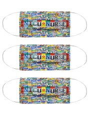 Plate mas - NICU nurse Cloth Face Mask - 3 Pack front
