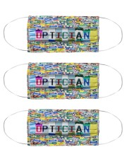 plate mask optician Cloth Face Mask - 3 Pack front