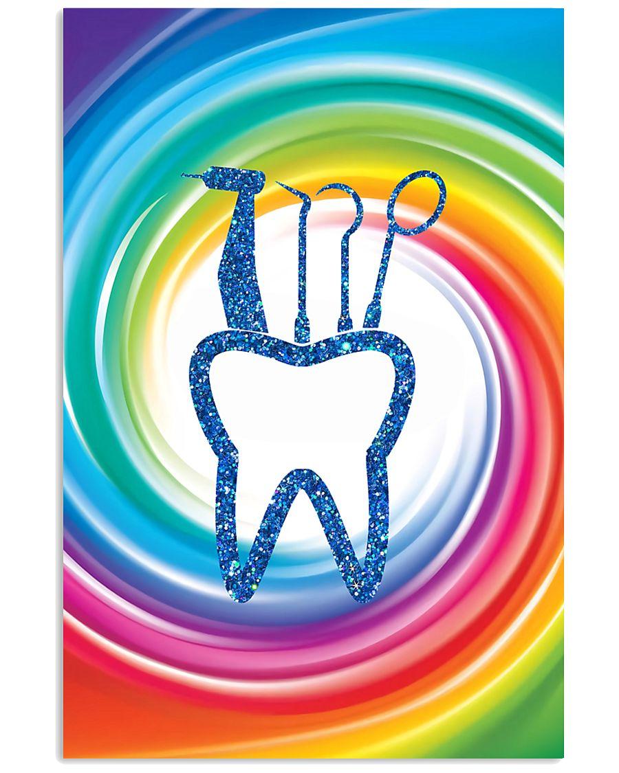 dentist swirl color 11x17 Poster