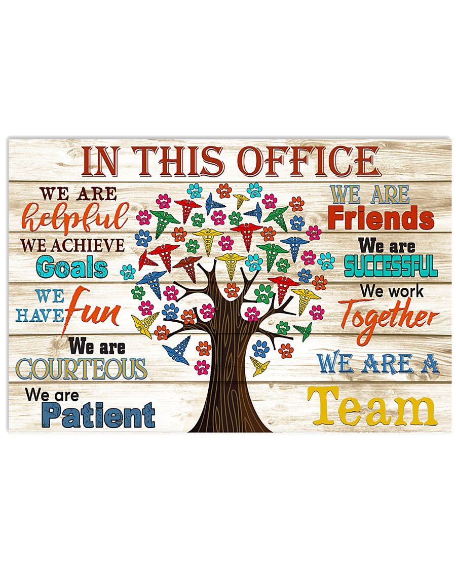 this office tree school Veterinarian 17x11 Poster
