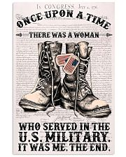 SHE SERVED IN THE US MILITARY 11x17 Poster front