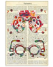optometrist-text-glass 11x17 Poster front