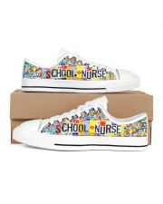 SCHOOL NURSE PLATE Men's Low Top White Shoes inside-left-outside-left