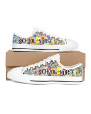 SCHOOL NURSE PLATE Men's Low Top White Shoes inside-right-outside-right
