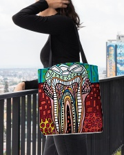 Tote Teeth Abstract All-over Tote aos-all-over-tote-lifestyle-front-05