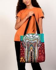 Tote Teeth Abstract All-over Tote aos-all-over-tote-lifestyle-front-06