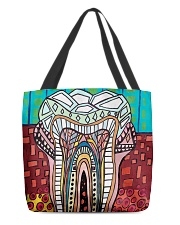 Tote Teeth Abstract All-over Tote back