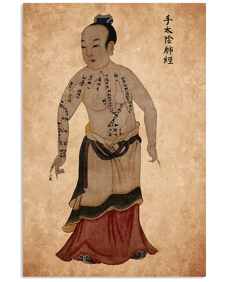 acupuncture print antique 1 24x36 Poster