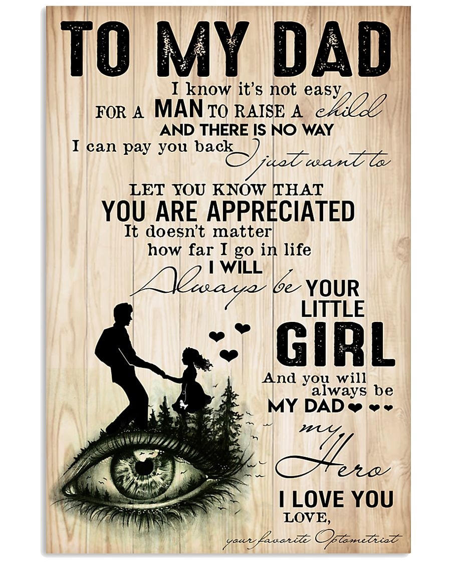 optometrist-to-my-dad 11x17 Poster