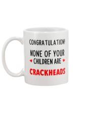 No Crackheads Mug back