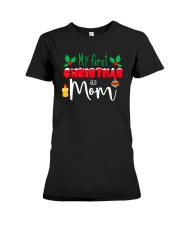 First Christmas as Mom Premium Fit Ladies Tee front