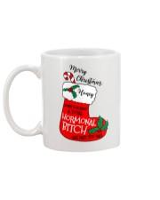 Merry Christmas Hormonal Bitch Mug back