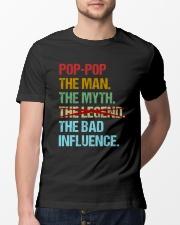 Pop-pop Legend Bad Influence Classic T-Shirt lifestyle-mens-crewneck-front-13