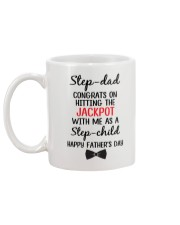 Step Dad Hitting Jackpot Mug back