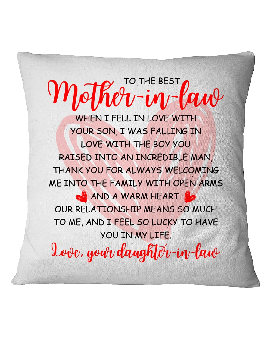 The Best Mother-in-law Pillow Square Pillowcase
