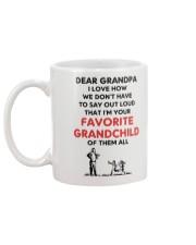Favorite grandchild Grandpa Mug back