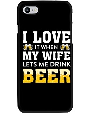 Love Wife Let Drink Beer Phone Case thumbnail