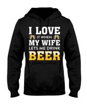 Love Wife Let Drink Beer Hooded Sweatshirt thumbnail