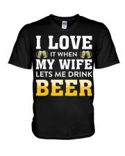 Love Wife Let Drink Beer V-Neck T-Shirt thumbnail