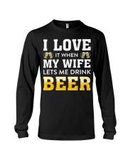 Love Wife Let Drink Beer Long Sleeve Tee thumbnail