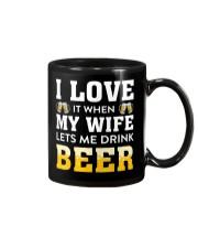 Love Wife Let Drink Beer Mug thumbnail