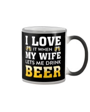 Love Wife Let Drink Beer Color Changing Mug thumbnail