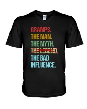 Gramps Bad Influencer V-Neck T-Shirt thumbnail