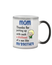 A Dickhead Of A Son Like My Brother Color Changing Mug thumbnail