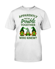 Irish Gnomies Trouble Together Classic T-Shirt front