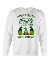 Irish Gnomies Trouble Together Crewneck Sweatshirt thumbnail