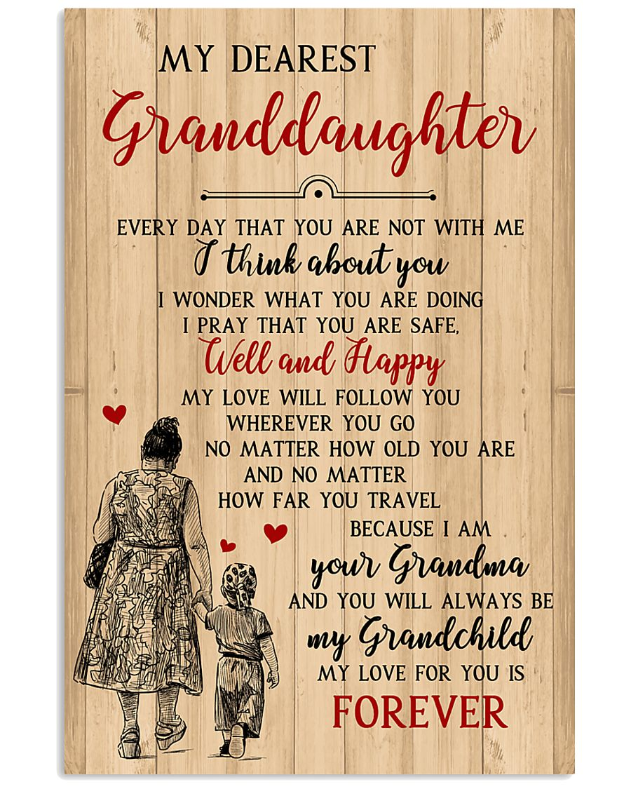 My Dearest Granddaughter Poster 11x17 Poster