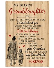 My Dearest Granddaughter Poster 11x17 Poster front