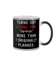 Love More Than Originally Planned Color Changing Mug tile