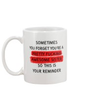 Forget Awesome Sister Mug back