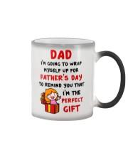 Wrap Myself For Father's Day Color Changing Mug tile