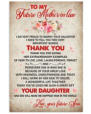 To Future Mother-in-law From Son-in-law 11x17 Poster front